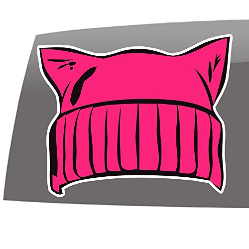 Pussy Hat - Nasty Woman - Womens Rights - Anti Trump - 5 Year - Outdoor Vinyl Sticker - Decal