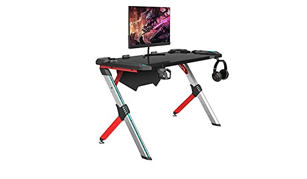 Escritorio para Juegos Multifuncional Ordenador del Juego de Tabla del Escritorio de Moda Mesa de Juego competitivo Mesa para Gaming (Color : Red, Size : 120x60x74cm): Amazon.es: Hogar
