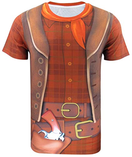 Funny World Men's Cowboy Costume T-Shirts -