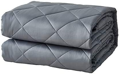 Vtom Weighted Blanket Cooling Weighted Blanket for Adults 180-220 lbs 20 lbs Premium Material with Glass Beads Full Size Bed Grey 60x80
