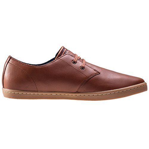 Fred Perry Byron Low Tumbled Leather Tan B1133448, Deportivas marrón