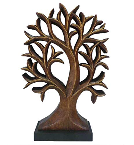 (Decozen Handmade Wooden Tree of Life Décor a Symbol of Growth and Strength Made by skilled Artisans for Farm House Home Decor Living Rooms Bedroom Kitchen Console Table 2 x 12 x 16 inches)