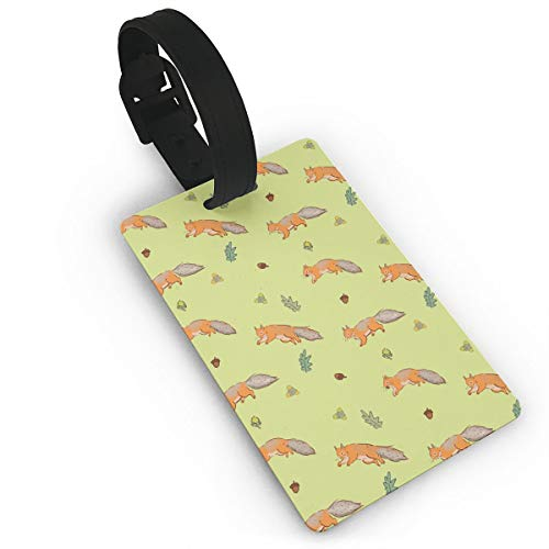 Diemeouk Luggage Tags Suitcases Squirrel Yellow Tail PVC Baggage Cards Cruise Ships ()