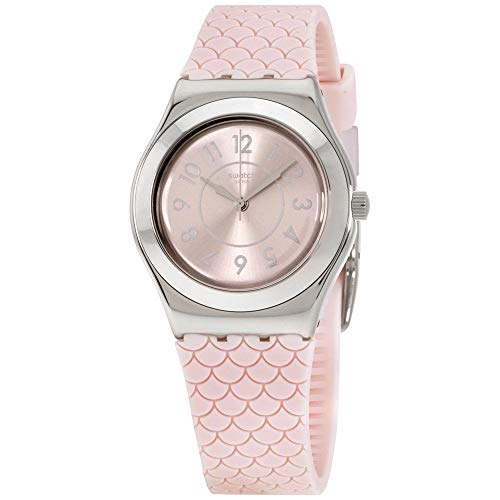 Swatch Irony Coco Ho Pink Dial Silicone Strap Ladies Watch -