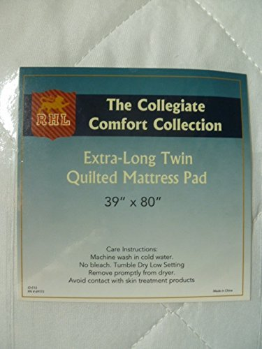 The Collegiate Comfort Collection Extra Long Twin Quilted Mattress Pad