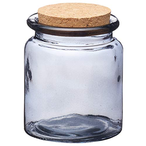 Kitchen Craft Natural Elements Small Glass Food Storage Jar, 250 ml (9 fl oz) - Smoked Glass Effect