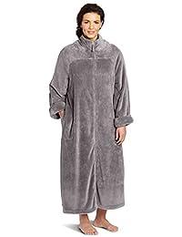 Casual Moments Women's Plus Size 52 Inch Breakaway Zipper Robe
