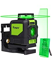 Huepar Self-Leveling Laser Level, 130Feet Green Beam Cross Line Laser Tool, 360-Degree Horizontal Line with Pluse Mode, Magnetic Pivoting Base, Carrying Pouch, Battery Included-901CG