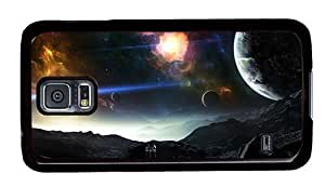 Hipster DIY Samsung Galaxy S5 Cases Space Planets Art PC Black for Samsung S5