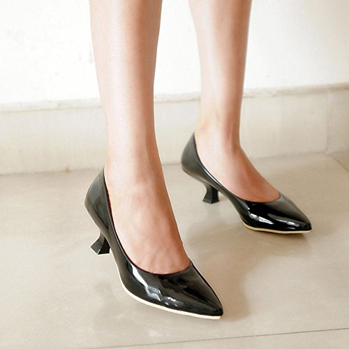 Classique Escarpins Kitten Heel COOLCEPT Mode Bas Noir Femme bas Bureau Talon W8RWASqY