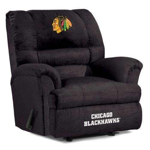 Imperial Officially Licensed NHL Furniture: Big Daddy Microfiber Rocker Recliner, Chicago Blackhawks