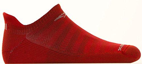 Drymax Running Lite Mesh No Show Tab, Torrid Red, W7.5-9.5 / M6-8