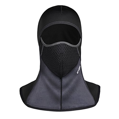 Balaclava Polar Mask - Wind Proof Balaclava Face Mask Mens Women Ski Mask for Cycling Motorcycling Riding (Lycra Polar Fleece Black)