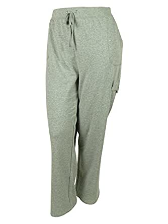 Karen Scott Women's Lounge Cargo Pants (PL, Smoke Grey Heather)