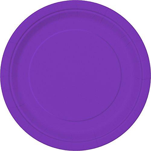 Neon Purple Paper Cake Plates, 20ct for $<!--$6.58-->
