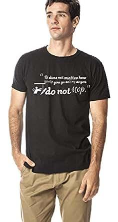 Motivation series-round neck cotton tshirt, Black S