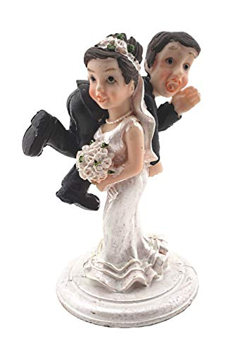 - Bride and Groom Cake Top Funny Couple Bride Carrying Groom