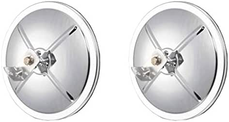 """Pair of 8/"""" Offset Chrome Convex Truck Mirror for Peterbilt and Freightliner"""