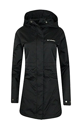 COLUMBIA WOMENS Shine Struck II Waterproof RAIN Mid Hooded JACKET 2017 (L, Black) ()