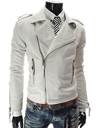 Amazon.com: White - Leather & Faux Leather / Jackets & Coats ...