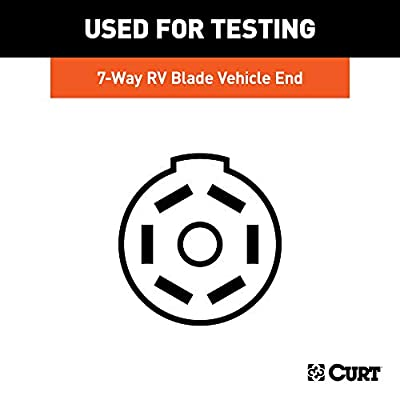 CURT 58271 Vehicle Socket Tester RV Blade 7-Way Towing Wiring Tester 7-Pin Trailer Wiring: Automotive