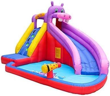 Castillo de la Gorila Inflable con Water Slide Park Hippo casa de la Despedida for niños al Aire Libre Jardín Juegos de Fiestas zhihao