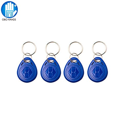 OBO HANDS125KHz Rewritable RFID Keychain Keyfobs T5577 Key token Tag for Access Control User Card Blue (20)