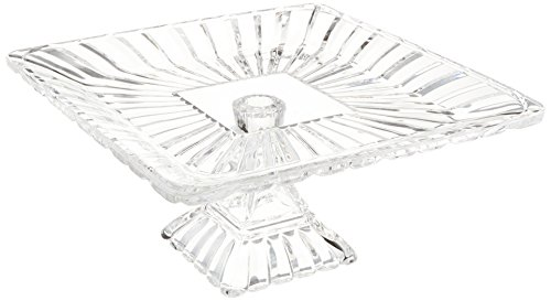 Crystal Clear Alexandria Square Pedestal Plate