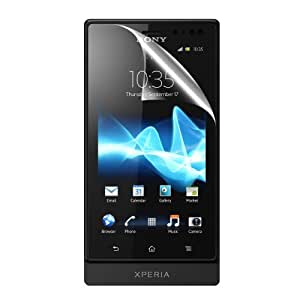 C.Skins 3 -Pack Premium Clear Screen Protector for Sony XPERIA SOLA MT27i, PEPPER Invisible LCD Guard Cover