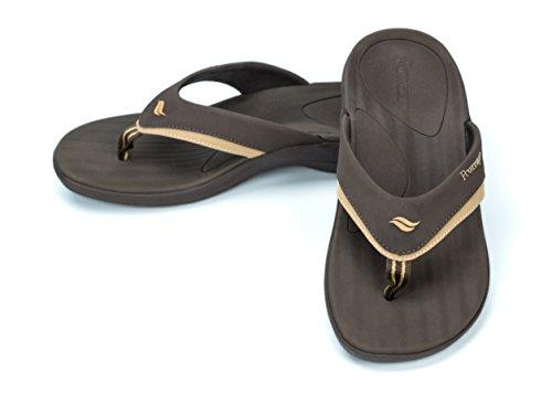 (Powerstep Fusion Sandals Flip-Flop Brown Men's Size 12 Regular US)