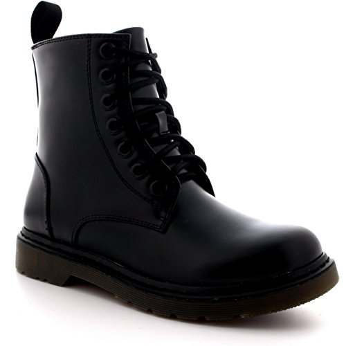 Viva Mens Lace Up Goth Punk Vintage Chunky Military Retro Combat Ankle Boots