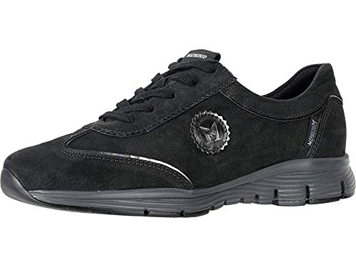 Mephisto Women's Yael Oxford, Black Greta/Dark Grey Magic, 8.5 M -
