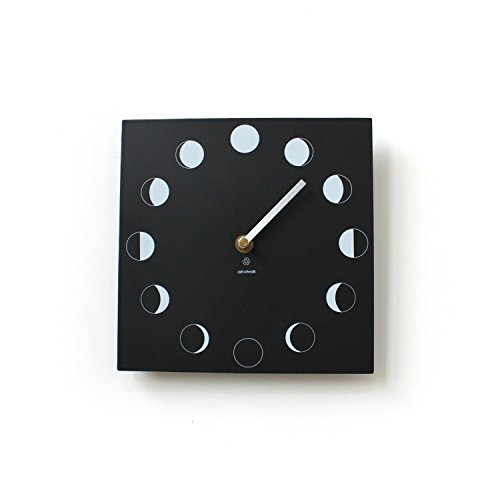 Eco Recycled Moon Phase Wall Clock