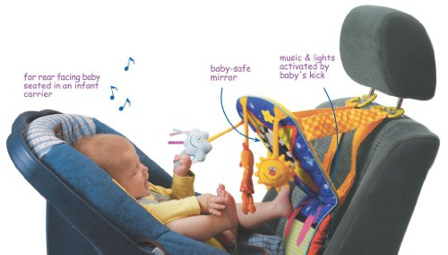 Taf Toys Toe Time Infant Car Seat Toy | Kick and Play Activity Center with Music, Lights, Mirror, and Jingling Toys | Fun Travel Baby Toy for Rear Car Seat | Easier Drive with Newborns, Babies by Taf Toys (Image #4)