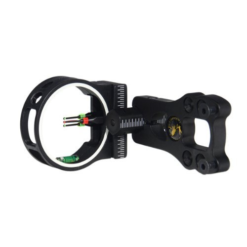 - TOPOINT ARCHERY 3 Pin Bow Sight - Fiber, Brass Pin, Aluminum Machined - Right and Left Handed