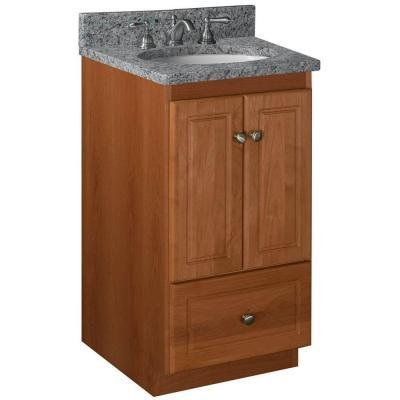 Simplicity 18u0026quot; Bathroom Vanity Base Base Finish: Medium Alder, ...