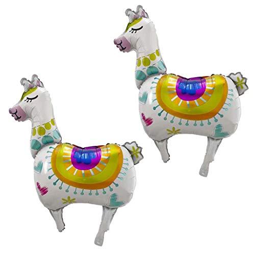 Kicpot 36 Inch Alpaca Llama Balloons, 2Pcs Cartoon Foil Llama Balloons Themed Llama Celebration Birthday Party Decoration