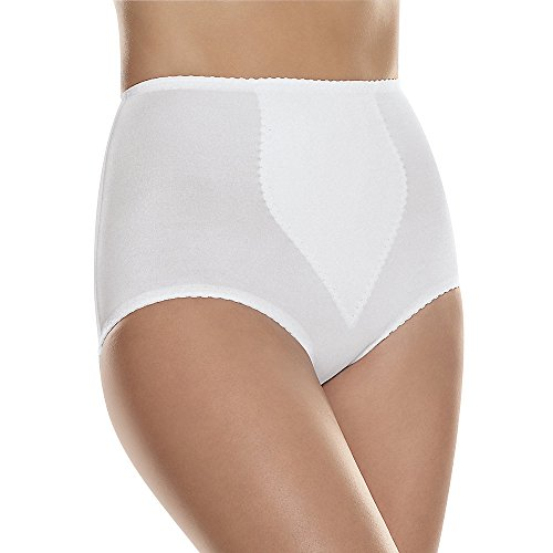 Hanes Shapers Everyday Light Control w/ TP Brief 2 Pack (H091) -Solid Whit ()