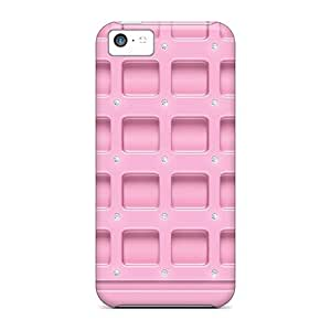 For iPhone 5 5s Premium Tpu Case Cover Pink Plastic Icon Tiles Protective Case