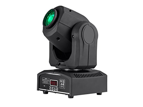 (Monoprice Stage Beam 30 Watt LED Moving Head Light with 7 Colors and Gobos plus Open)