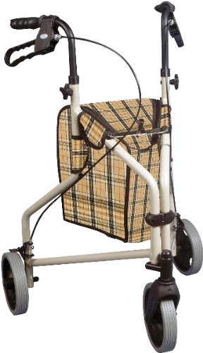 Winnie Lite Supreme 3 Wheel Rollator Walker - The Winnie Lite Supreme/Go-Lite Three Wheel Rollator By Drive Medical Comes In An Attractive Tan Finish. The Lightweight, Solid 7.5