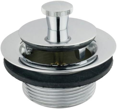 Brushed Nickel Kingston Brass DLL208 Lift and Lock Bath Tub Drain