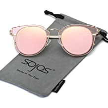 SOJOS Fashion Polarized Sunglasses for Women UV400 Mirrored Lens SJ1057