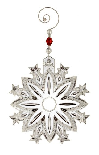 Waterford Crystal 2010 Annual Snow Crystal Pierced Ornament, Limited Edition