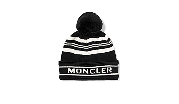 70011aef307 Moncler Men s Black White Striped Pom Pom Hat  Amazon.ca  Clothing    Accessories