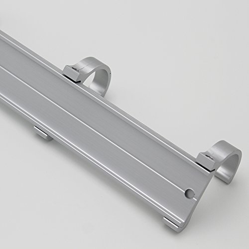 BOEN Coat Hook Rack/Rail with 4 Pronged Hooks Wall Mount Solid Aluminum,A2024H4-1 by BOEN (Image #6)