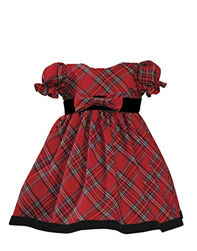 Baby Holiday Dresses (Holiday Christmas New Year's Girl's Dress Red Plaid Infant M 6-12)