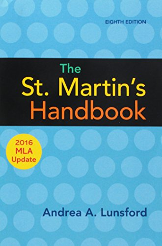 St.Martin's Handbk.,2016 Mla Update(Pb)