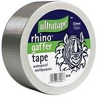 Rhino Doek Gaffer Tape Zilver 50mm x 10m Waterdichte Multifunctionele Duct Heavy Duty Gaffa Reparatie Roll Sterke Tapijt…