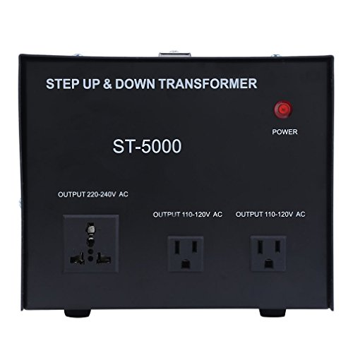 Homgrace 5000 W Voltage Converter Transformer, Heavy Duty Step Up and Down 110-220V (ST-5000 W) by Homgrace (Image #2)
